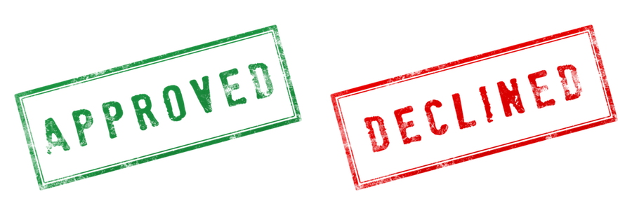 approved declined stamps