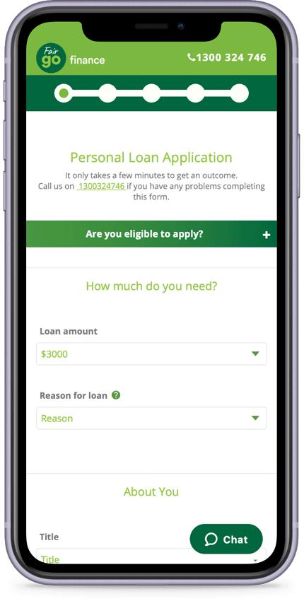 Fair Go Finance Phone Application